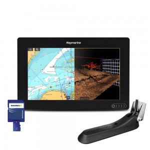 "Raymarine AXIOM 9"" Multifunktionsdisplay m intergreret 600w sonar, DownVision, Navionics+ small og CPT--100DVS Transducer"