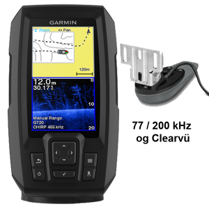 Garmin Striker Plus 4cv ekkolod med transducer
